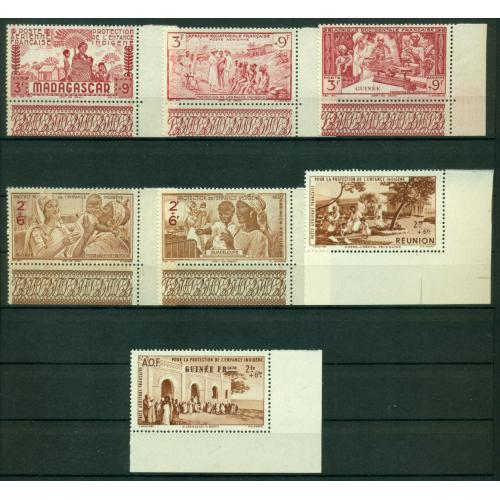 Timbres** Colonies Fr protection enfance hb